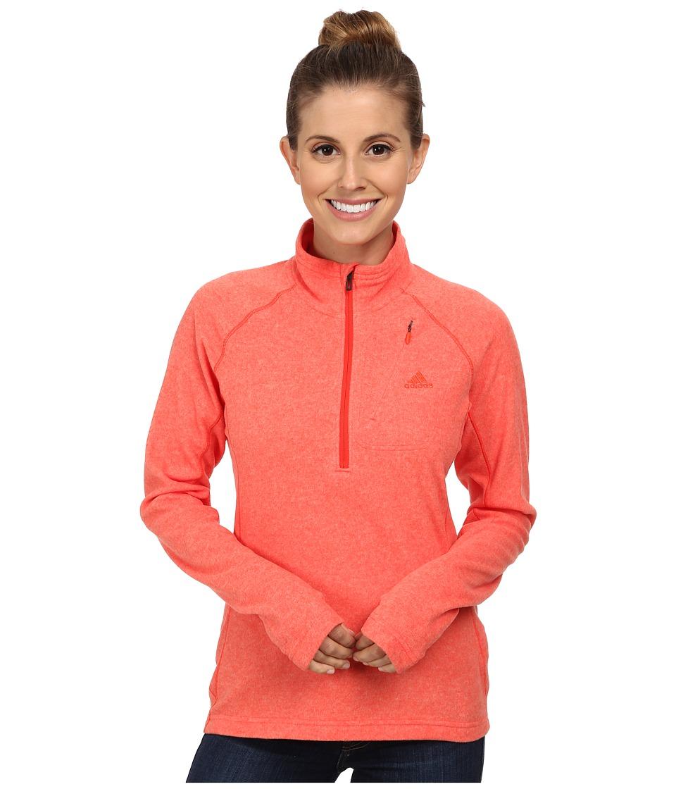 adidas Outdoor - Reachout 1/2 Zip Top (Bold Orange) Women's Long Sleeve Pullover