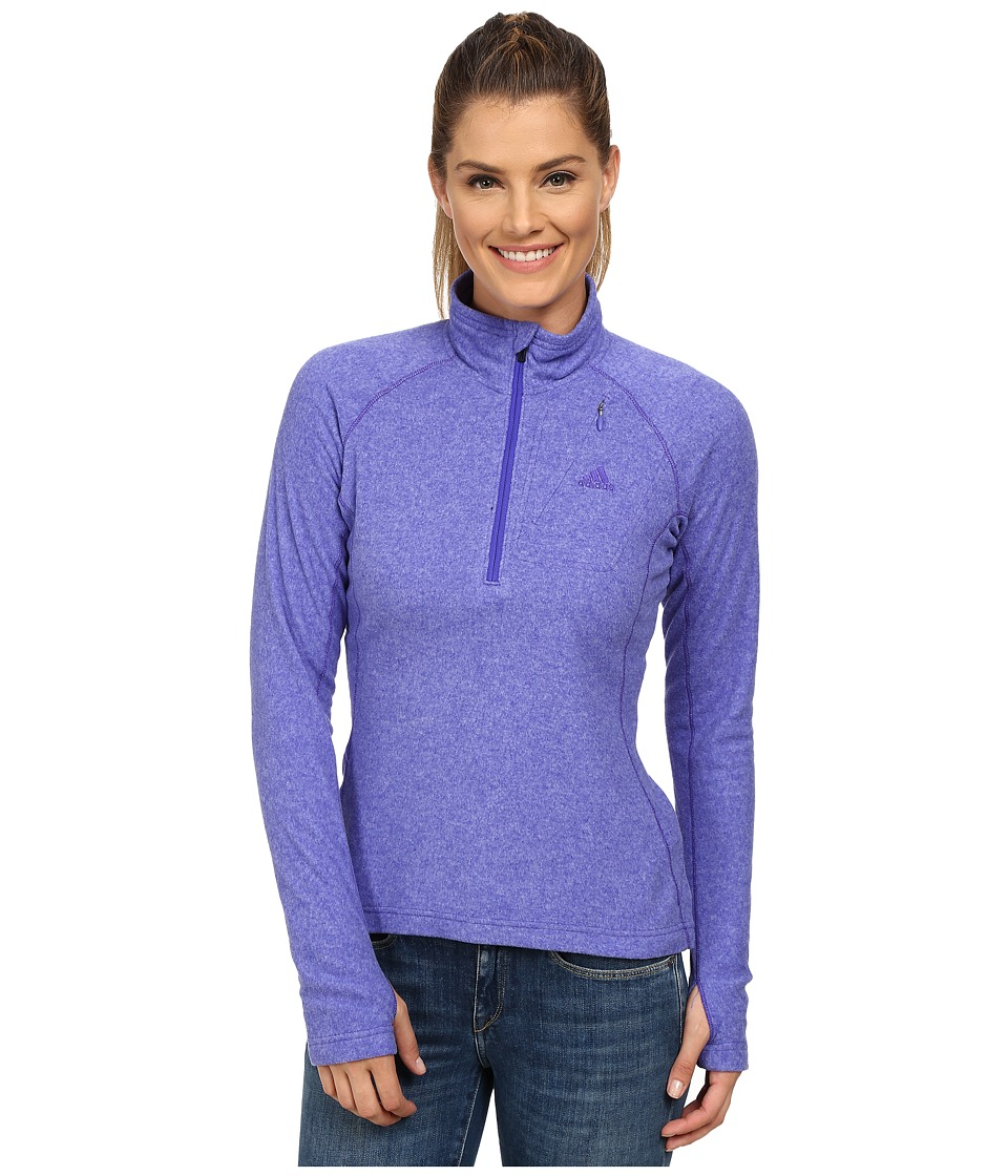 adidas Outdoor - Reachout 1/2 Zip Top (Night Flash) Women