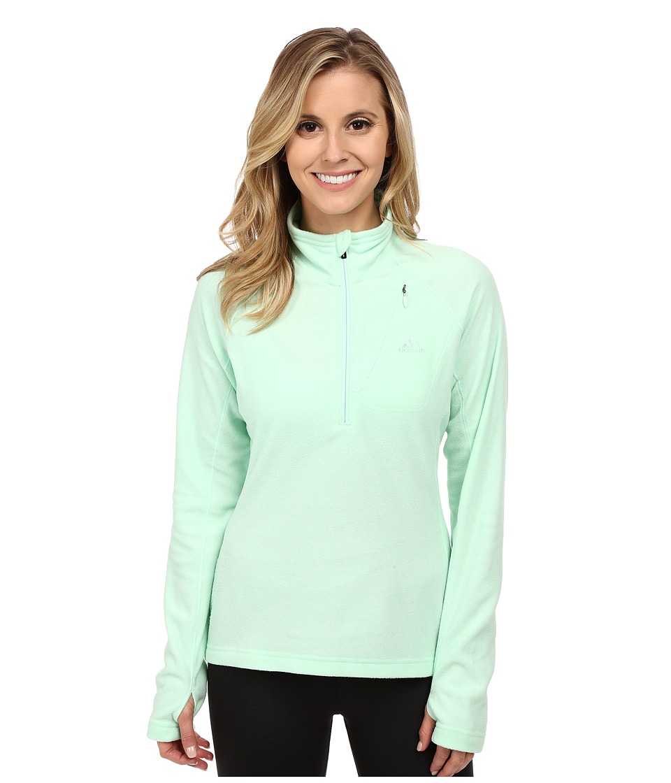 adidas Outdoor - Reachout 1/2 Zip Top (Frozen Green) Women