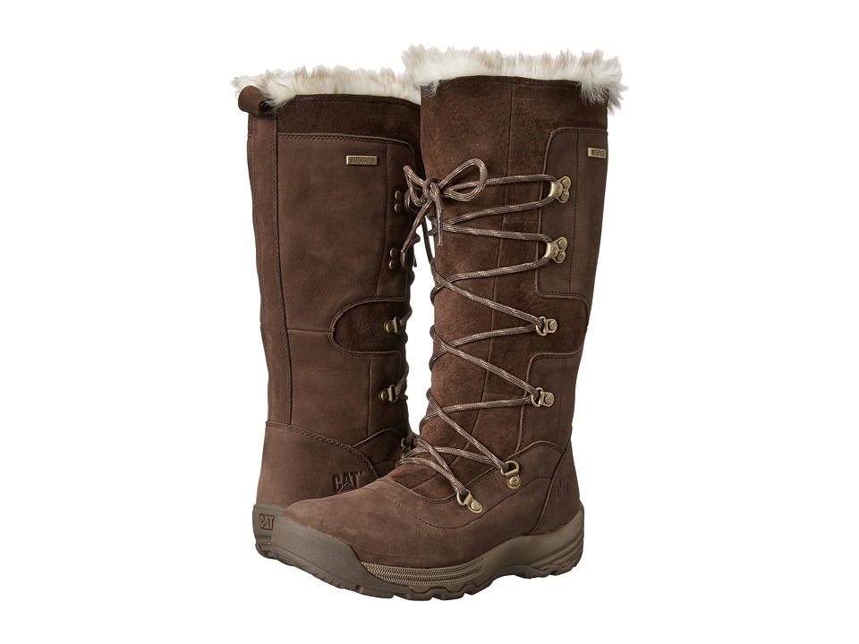 Caterpillar Casual - Devlin WP Fur (Bitter Chocolate) Women's Work Boots