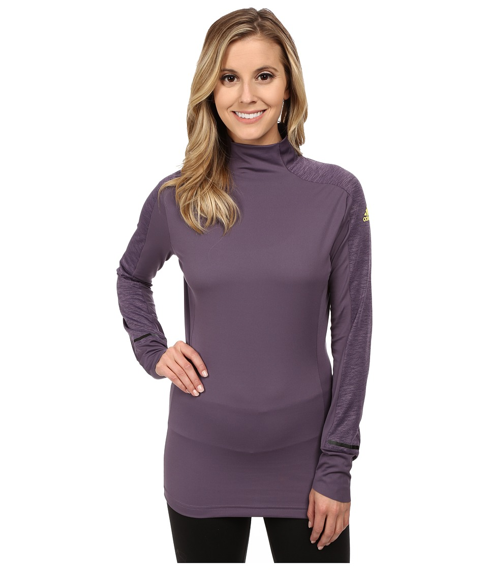 adidas Outdoor - Xperior Active Top (Ash Purple) Women's Long Sleeve Pullover