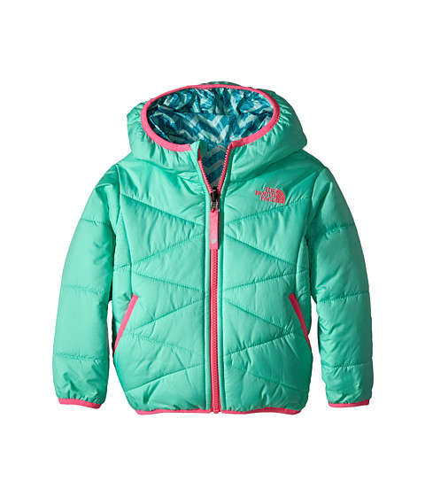 The North Face Kids - Reversible Perrito Jacket (Toddler) (Surf Green) Girl