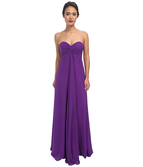 Faviana - Chiffon Strapless Sweetheart Knot Dress 7591 (Purple) Women