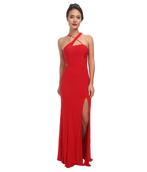Faviana - Jersey Illusion Sheer 7539 (Red) Women's Dress