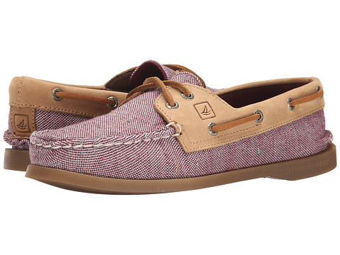 Sperry Top-Sider - A/O 2-Eye Flecked Canvas (Burgundy) Women's Lace up casual Shoes