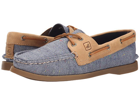 Sperry Top-Sider - A/O 2-Eye Flecked Canvas (Navy) Women's Lace up casual Shoes