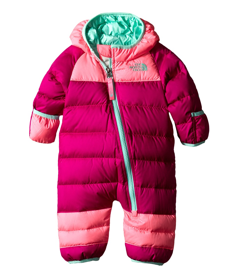 The North Face Kids - Lil' Snuggler Down Suit (Infant) (Luminous Pink) Kid's Jumpsuit & Rompers One Piece