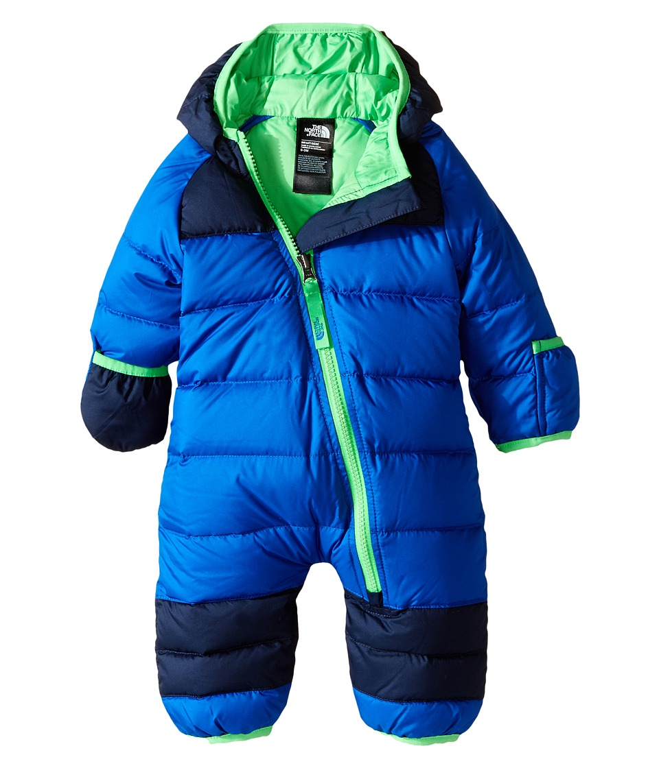 The North Face Kids - Lil' Snuggler Down Suit (Infant) (Monster Blue) Kid's Jumpsuit & Rompers One Piece