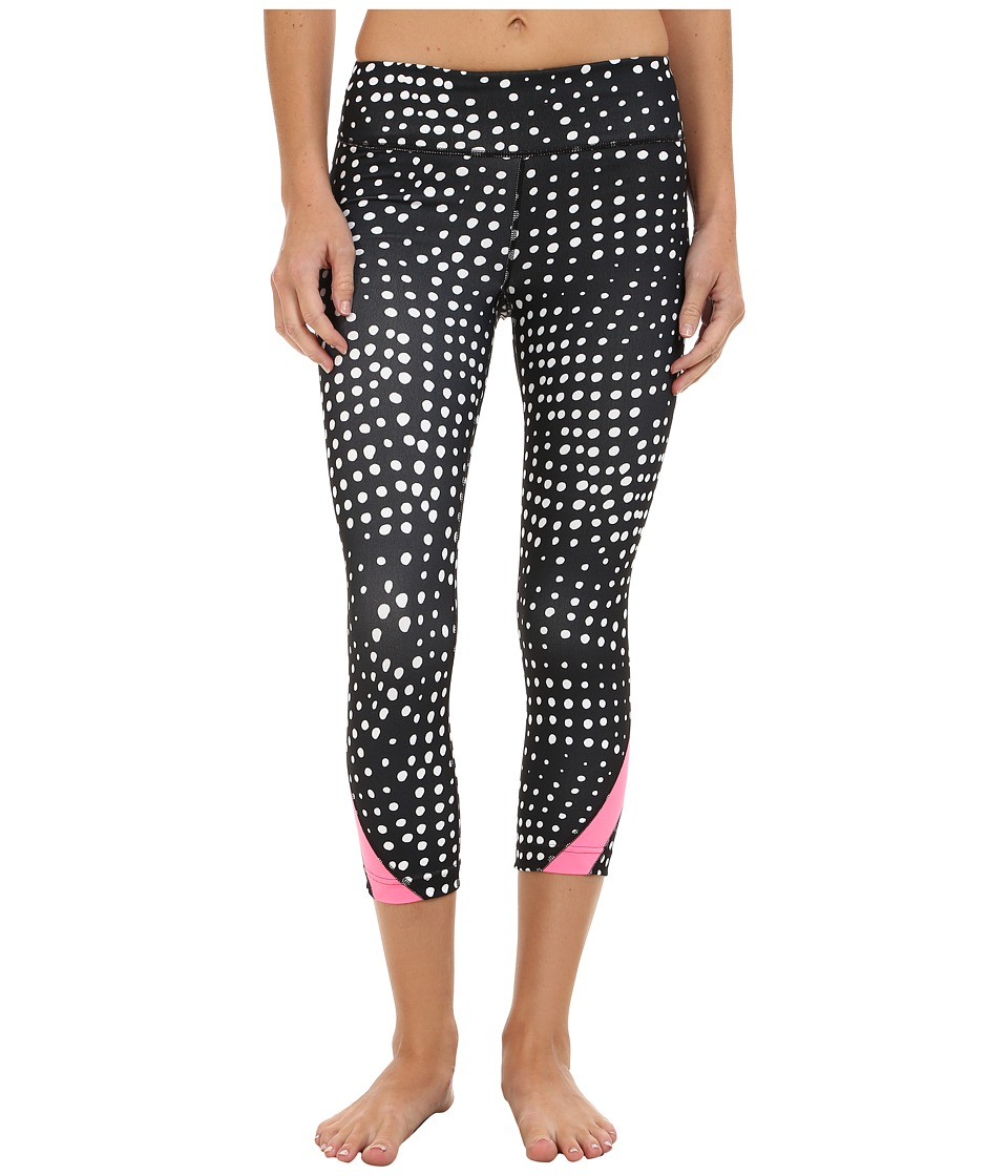 Under Armour - Take a Chance Printed Capri (Black/Pink Punk/Metallic Pewter) Women's Capri