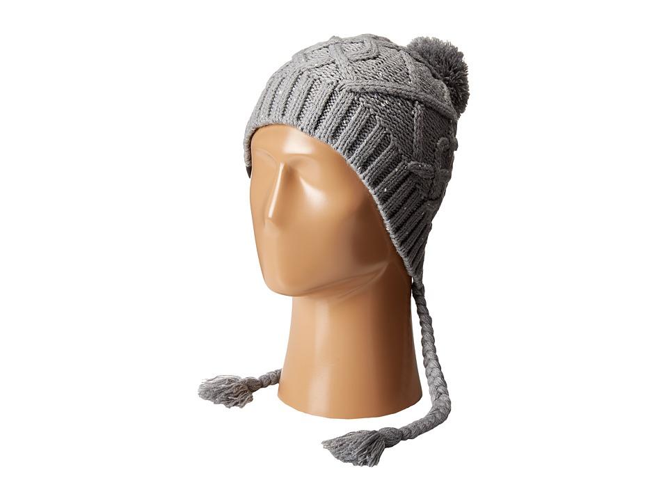 The North Face - Flecka Earflap Beanie (Mid Grey/Vaporous Grey) Beanies