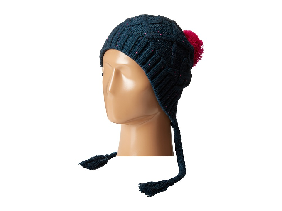 The North Face - Flecka Earflap Beanie (Kodiak Blue/Luminous Pink) Beanies