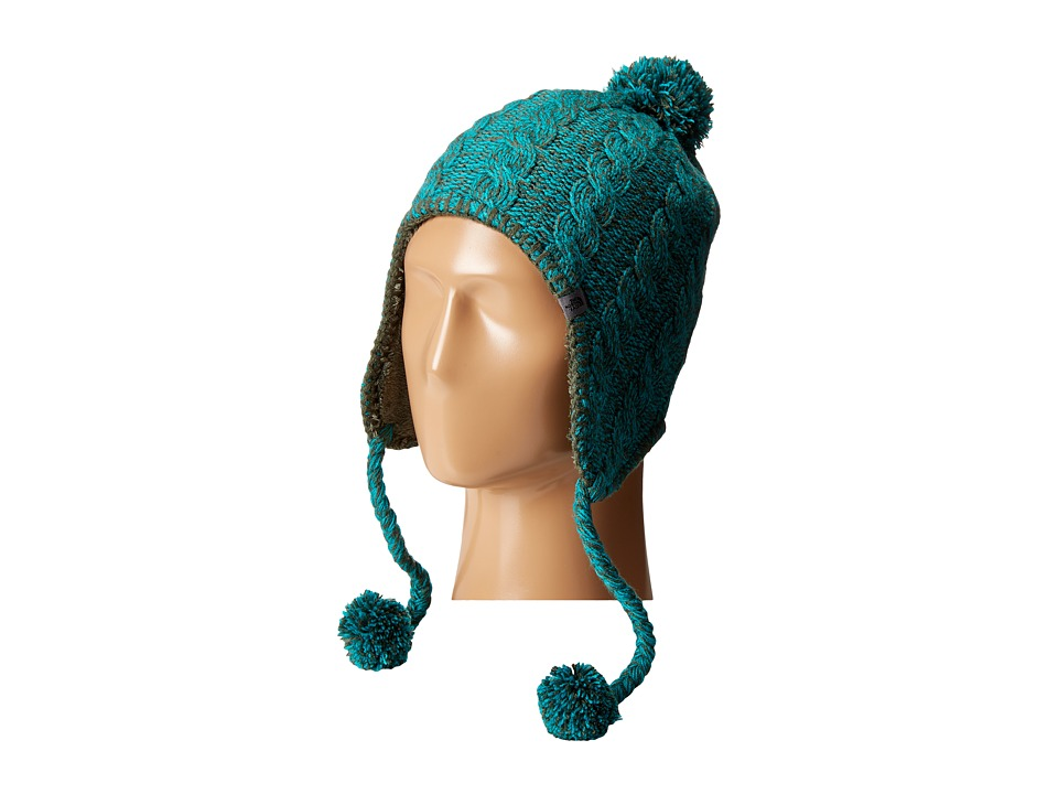 The North Face - Fuzzy Earflap Beanie (Oscar Green/Kokomo Green) Beanies