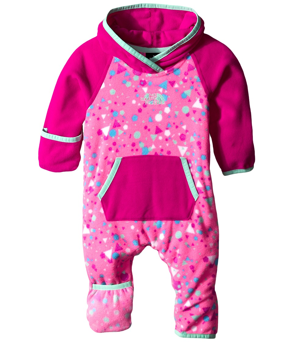 The North Face Kids - Glacier One Piece (Infant) (Gem Pink Confetti Print) Kid's Jumpsuit & Rompers One Piece