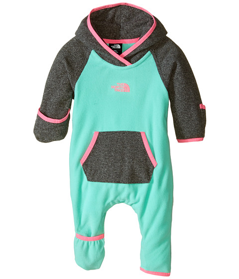 The North Face Kids - Glacier One Piece (Infant) (Surf Green) Kid's Jumpsuit & Rompers One Piece