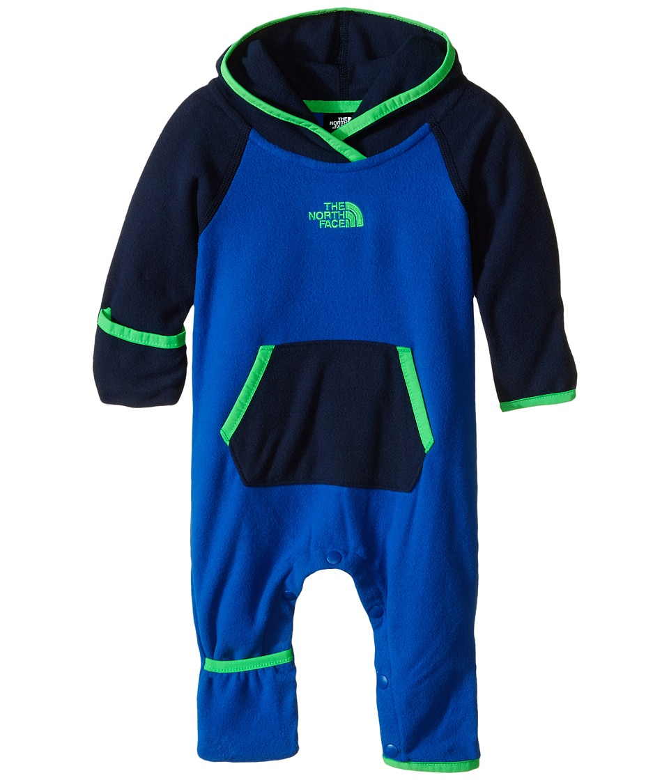 The North Face Kids - Glacier One Piece (Infant) (Monster Blue/Cosmic Blue) Kid's Jumpsuit & Rompers One Piece