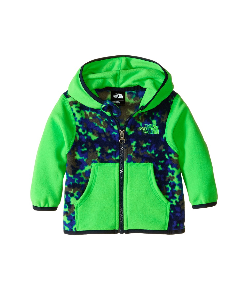 The North Face Kids - Glacier Full Zip Hoodie (Infant) (Krypton Green Marble Combo) Boy's Sweatshirt