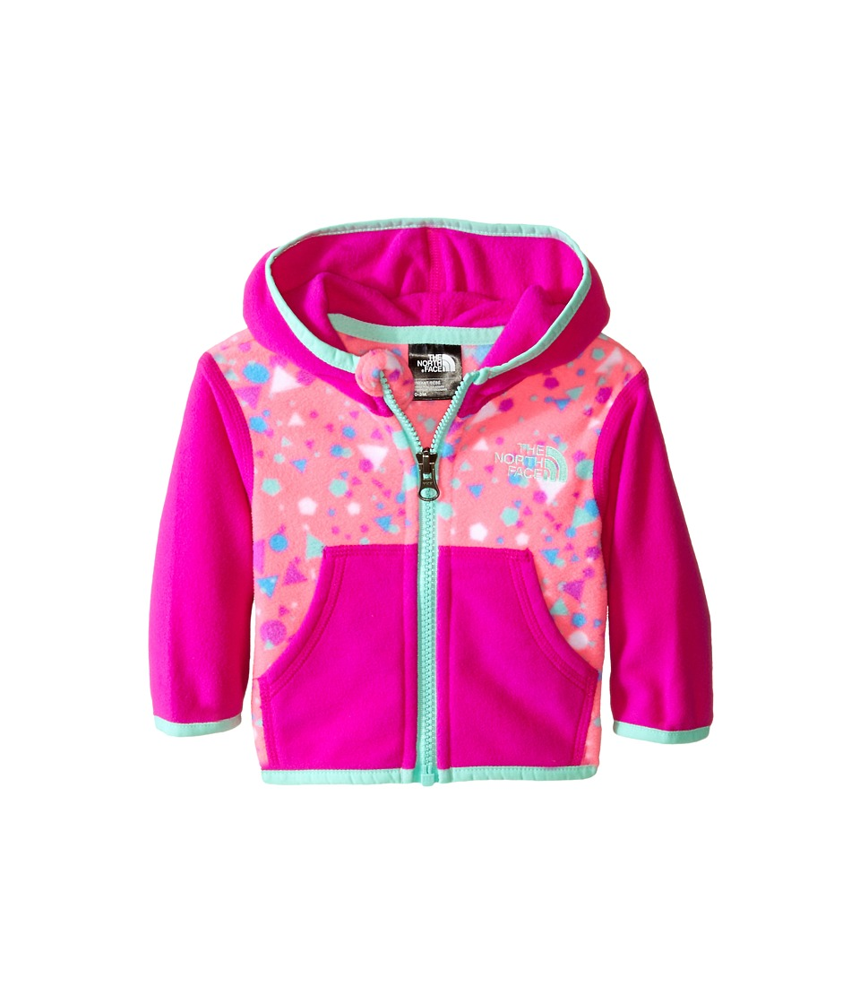 The North Face Kids - Glacier Full Zip Hoodie (Infant) (Gem Pink Confetti Print) Boy