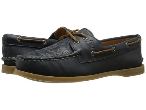 Sperry Top-Sider - A/O 2-Eye Embossed (Navy) Women's Lace up casual Shoes