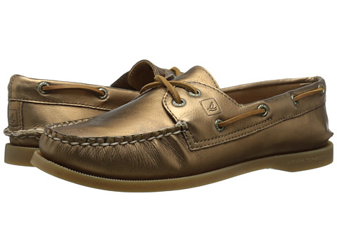 Sperry Top-Sider - A/O 2-Eye Metallic (Bronze) Women's Lace up casual Shoes