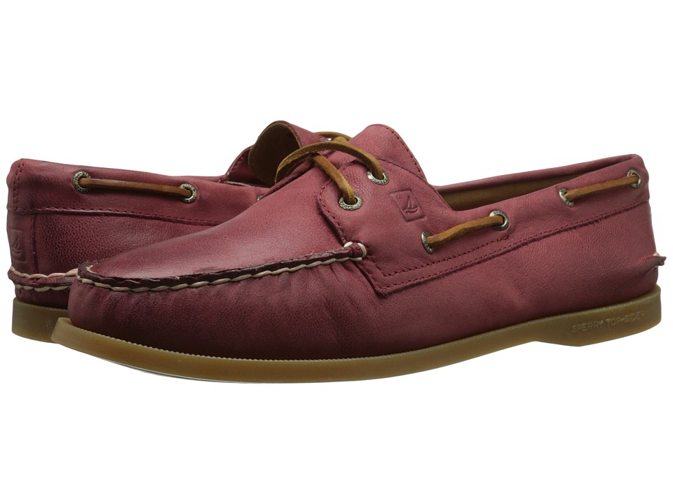 Sperry - A/O 2-Eye Weathered Worn (Burnt Red) Women's Lace up casual Shoes