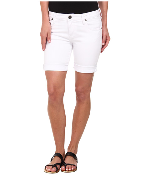 KUT from the Kloth - Catherine Boyfriend Short (White) Women's Shorts