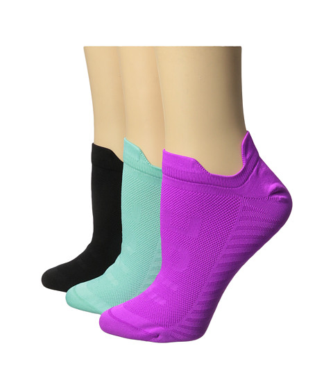 HUE - Air Sleek Front Back Tab 3 Pack (Leaflet) Women's No Show Socks Shoes