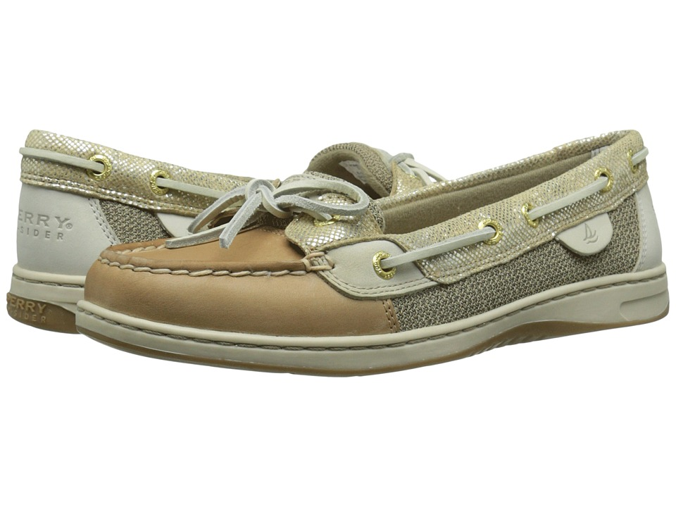 Sperry Top-Sider - Angelfish Metallic Python (Linen/Gold) Women's Lace up casual Shoes
