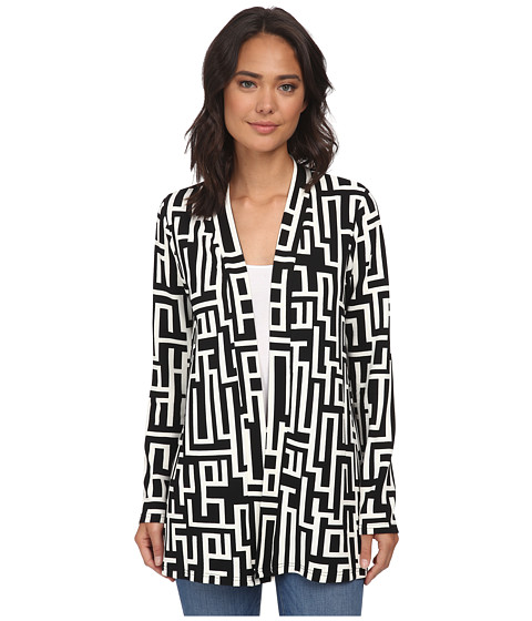 Christin Michaels - Jillian Cardigan (Black/White) Women