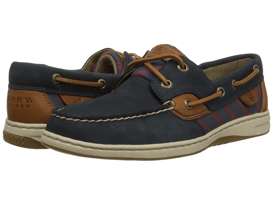 Sperry Top-Sider - Bluefish Tie Stripe (Navy/Burgundy) Women