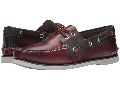 Sperry Top-Sider - Gold A/O 2-Eye (Oxblood/Grey) Men's Slip on Shoes