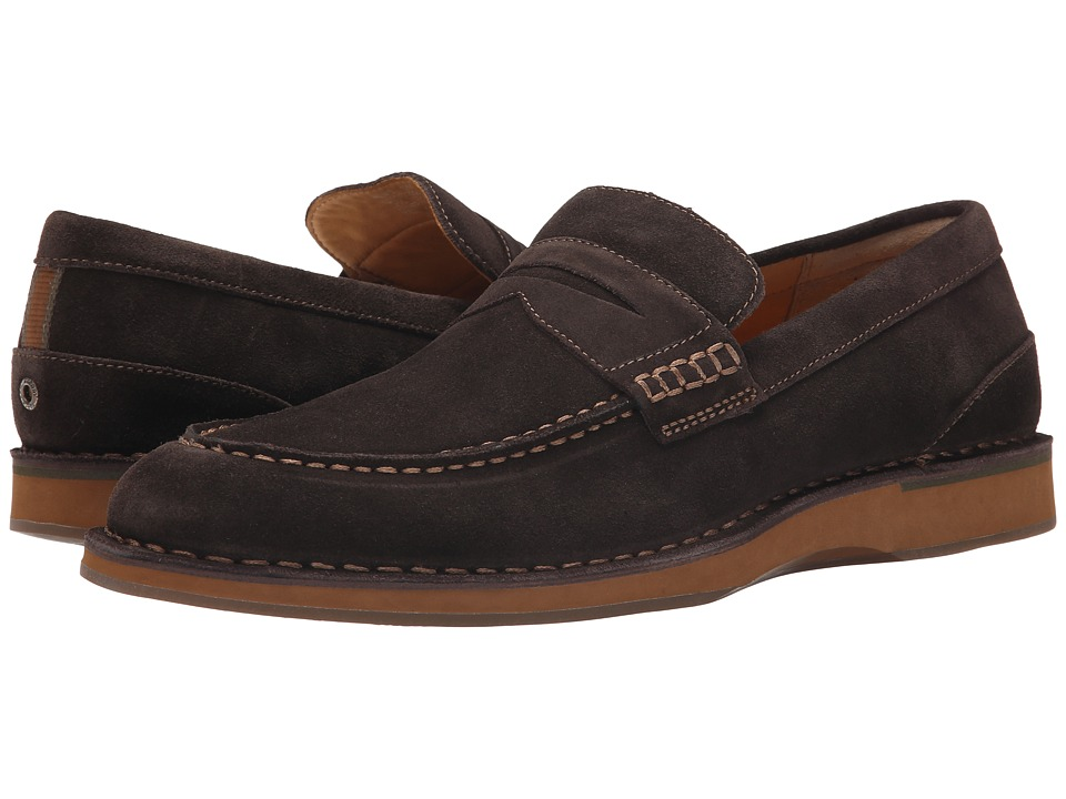 Sperry Top-Sider - Gold Norfolk Penny (Dark Brown) Men's Slip on Shoes