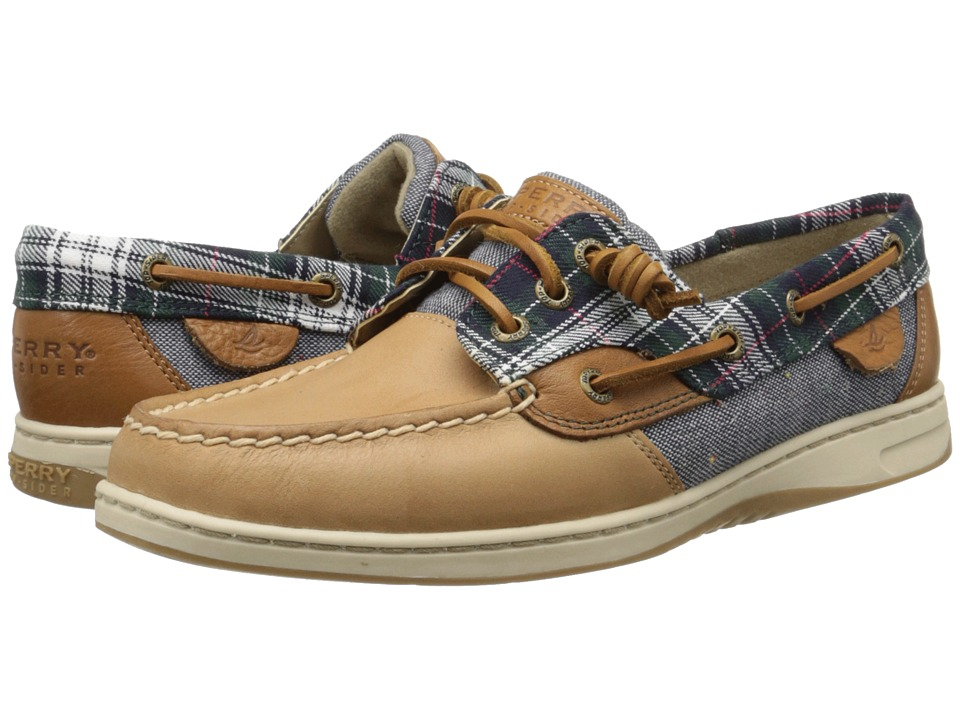 Sperry Top-Sider - Ivyfish Tartan Plaid (Tan/Blue) Women's Lace up casual Shoes