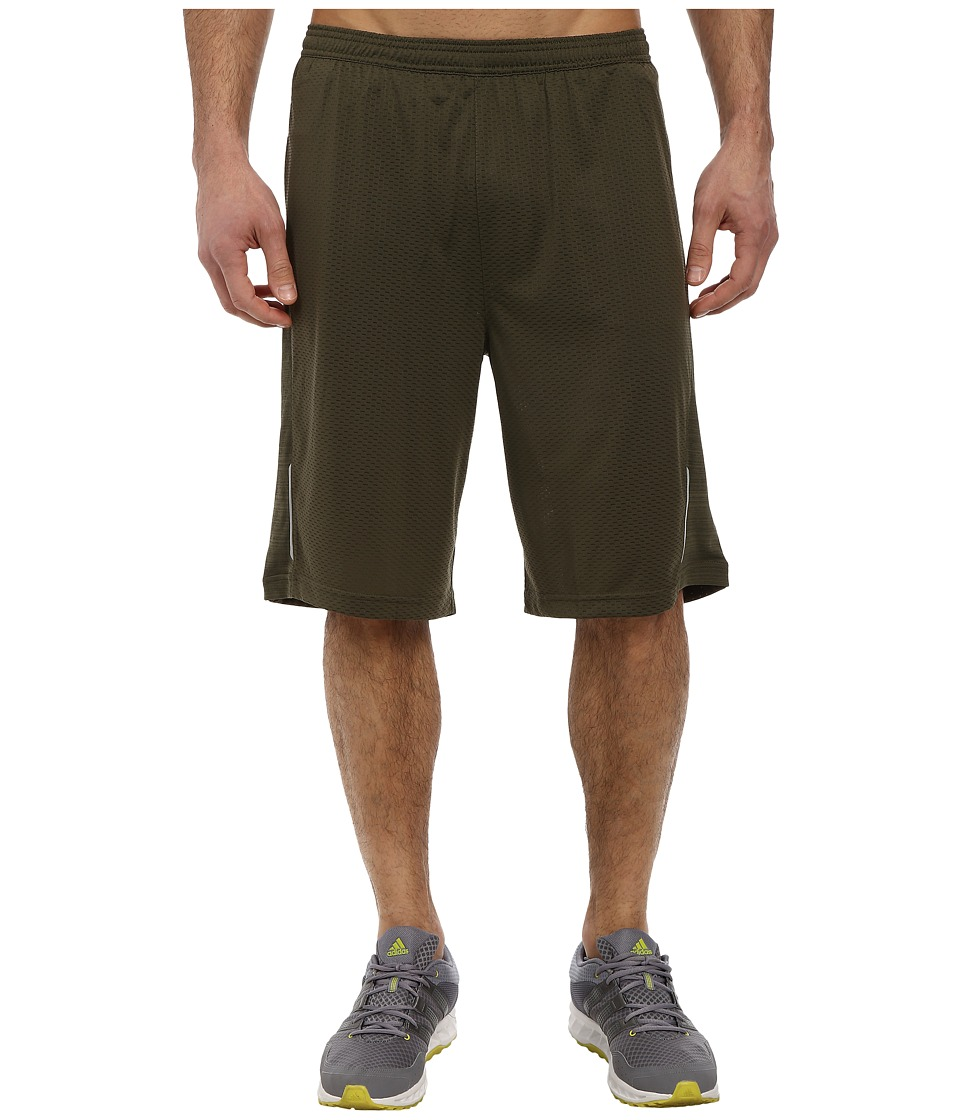 adidas - Supernova 11 2-in-1 Knit Shorts (Earth Green) Men's Workout