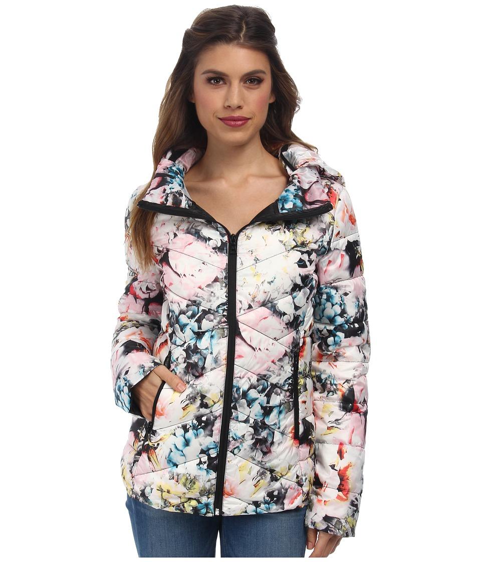 Sam Edelman Wide Collar Packable (Floral) Women