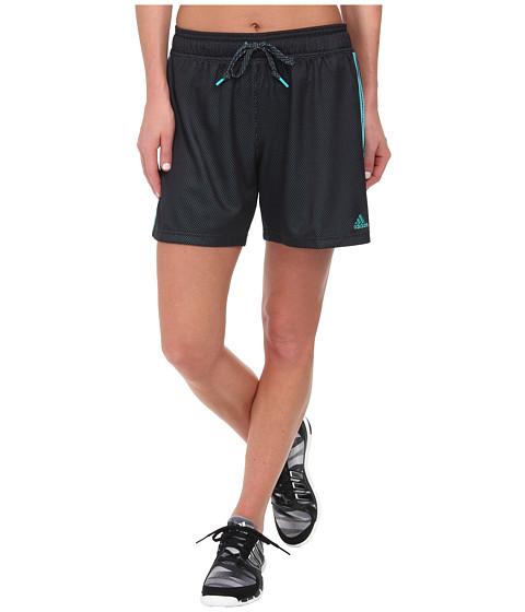 adidas - Shadow 6 Shorts (Night Grey/Vivid Mint) Women's Workout