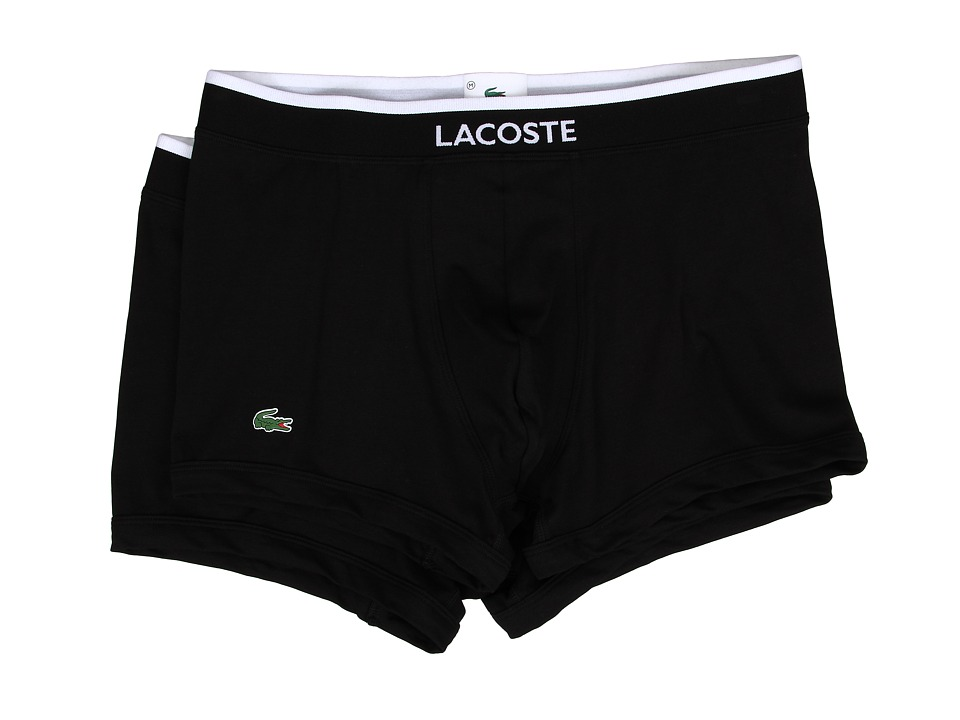 Lacoste - Colours 2-Pack Trunk (Black) Men's Underwear