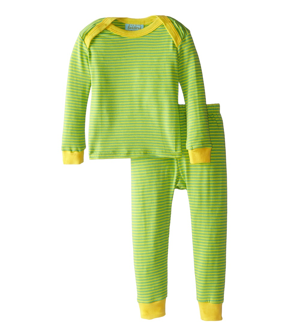 BedHead Kids - Long Sleeve Baby Tee Pant Set (Infant) (Jungle Stripe) Kid's Pajama Sets