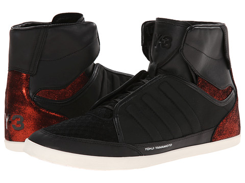 adidas Y-3 by Yohji Yamamoto - Y-3 Honja High (Black Y-3/Suppl Col/Black Y-3) Men's Lace up casual Shoes