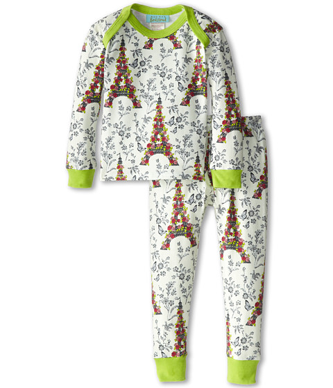 BedHead Kids - Baby L/S Tee Pant (Infant) (Blooming Eiffel Tower) Girl's Pajama Sets