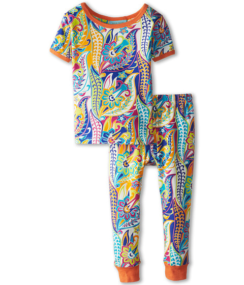 BedHead Kids - Short Sleeve Tee Pant Set (Infant) (Blue Sergeant Pepper) Girl's Pajama Sets