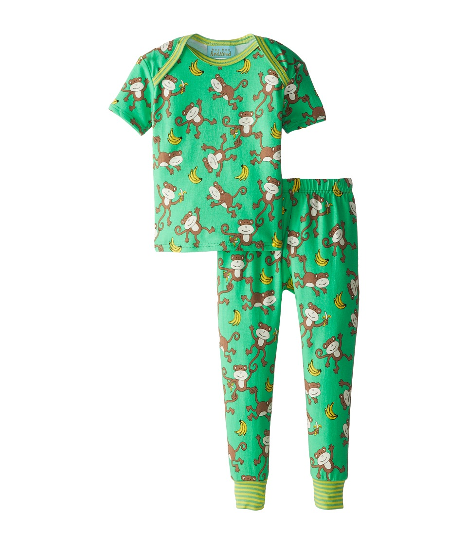 BedHead Kids - Short Sleeve Baby Tee Pant Set (Infant) (Going Bananas) Kid's Pajama Sets