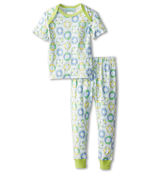 BedHead Kids - Short Sleeve Baby Tee Pant Set (Infant) (Blue Lifesavers) Kid's Pajama Sets