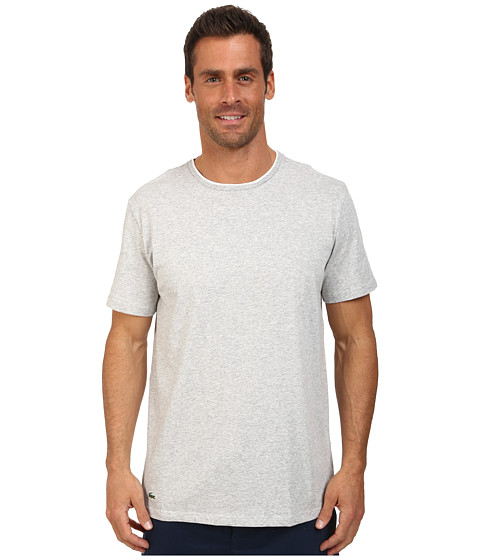 Lacoste - Baseline Short Sleeve Crew Tee (Grey) Men's Pajama
