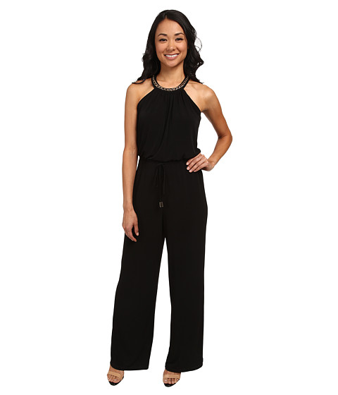 Calvin Klein - Halter Neck with Chain Jumpsuit CD5A1C4T (Black) Women's Jumpsuit & Rompers One Piece