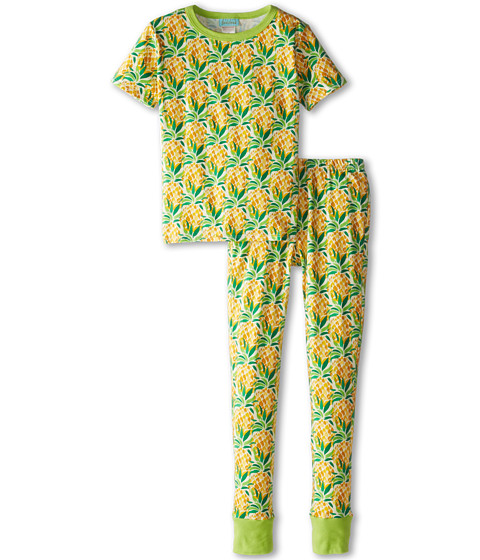 BedHead Kids - Short Sleeve Tween Snug PJ (Big Kids) (Pineapples) Girl
