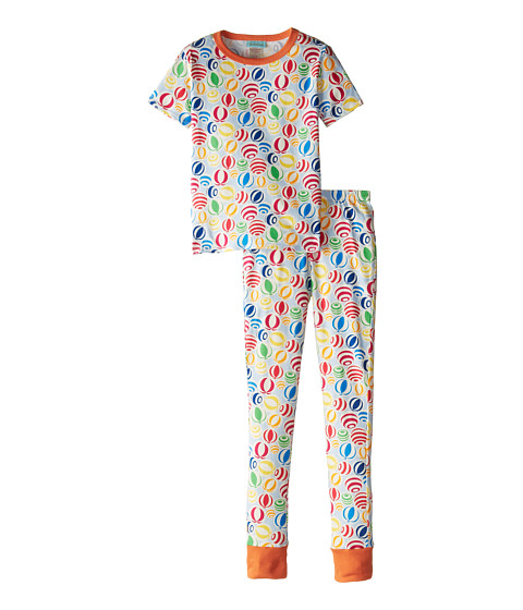 BedHead Kids - Short Sleeve Tween Snug PJ (Big Kids) (Multi Beach Balls) Kid's Pajama Sets