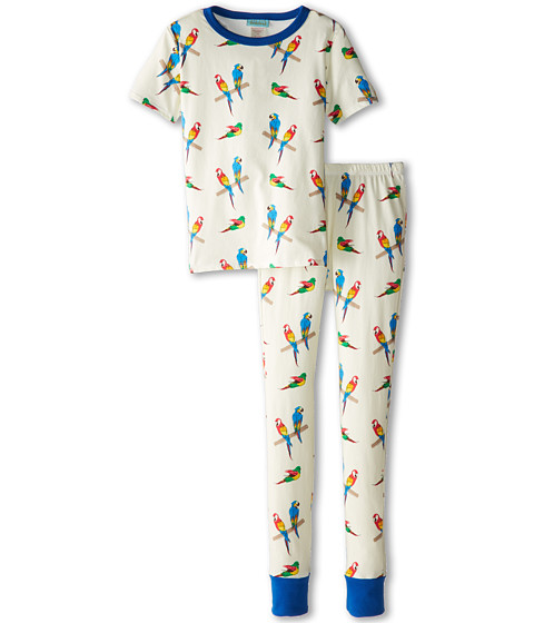 BedHead Kids - Short Sleeve Tween Snug PJ (Big Kids) (Parrot Jungle) Kid's Pajama Sets