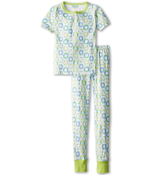 BedHead Kids - Short Sleeve Tween Snug PJ (Big Kids) (Blue Lifesavers) Kid