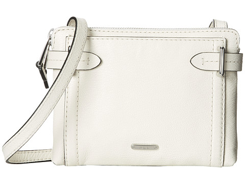 LAUREN by Ralph Lauren - Gladstone Double Zip Crossbody (Vanilla) Cross Body Handbags