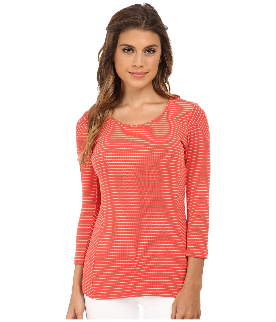 LAmade - Calla Stripe Top (Coral/Oatmeal) Women